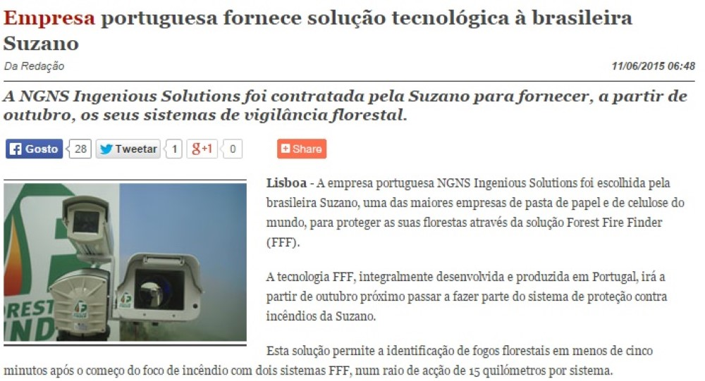 PortugalDigital - Portuguese company supply technological solution to brasilien Suzano