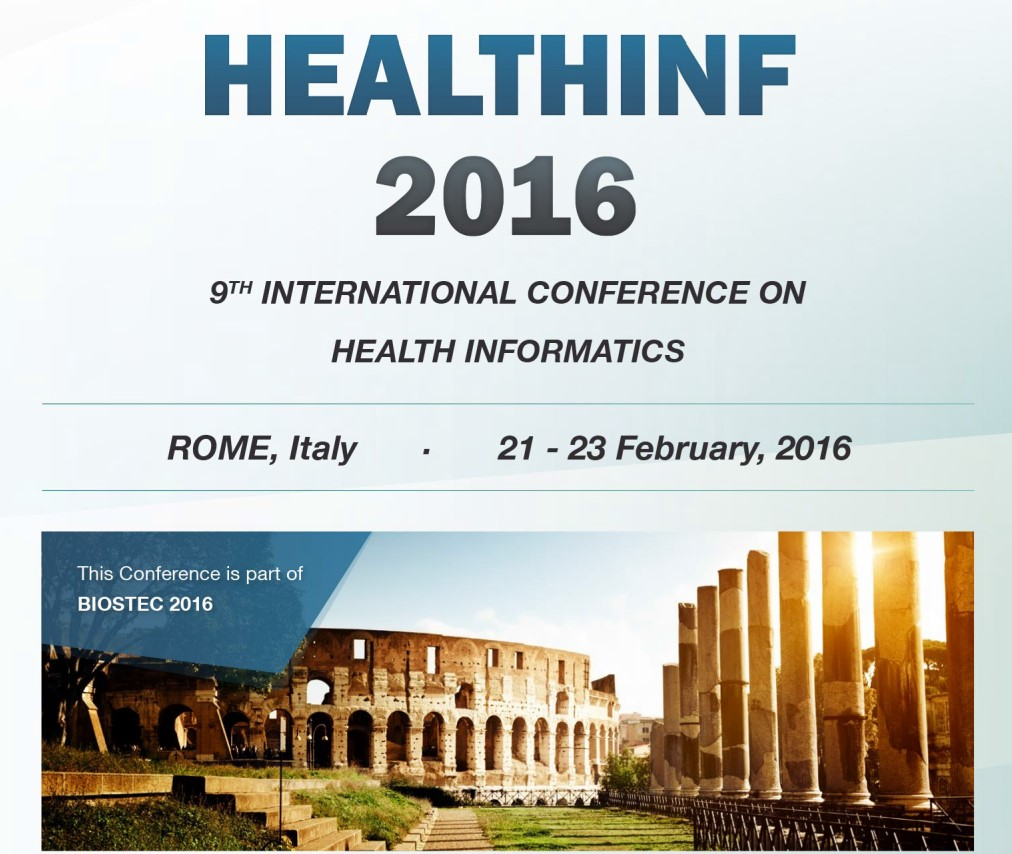 NGNS - Ingenious Solutions at Healthinf 2016, Rome, Italy